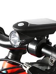 abordables -LED Eclairage de Velo Lampes Torches LED Eclairage de Vélo Avant Phare Avant de Moto VTT Vélo tout terrain Vélo Cyclisme Super brillant Energie Solaire Avec prise USB Charger USB 1100 lm USB Blanc