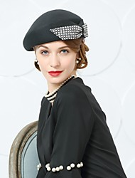 cheap -Wool Hats with Bowknot 1 Wedding / Party / Evening Headpiece