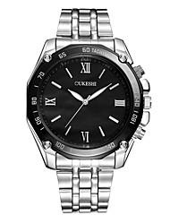 cheap -Men's Wrist Watch Quartz Stainless Steel Silver Casual Watch Analog Fashion Minimalist - White Black