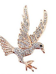 cheap -Brooches Eagle Animal Classic Fashion Imitation Diamond Brooch Jewelry Gold For Daily