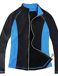 Недорогие -Флисовая куртка для фигурного катания Жен. Катание на коньках Толстовка Верхняя часть Розовый с красным Синий Спандекс Эластичная Учебный Соревнование Одежда для фигурного катания Однотонный