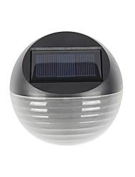 Недорогие -1pc теплый / холодный белый цвет 6led солнечный свет солнечная энергия забор лампа полукруг сад газон настенный светильник
