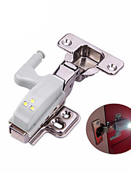cheap -Universal 0.3W Inner Hinge LED Sensor Night Light Cabinet Wardrobe Door 3 LEDs Lamp Auto Switch Bulb