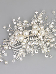 cheap -Crystal / Rhinestone / Alloy Hair Combs with Rhinestone / Crystal / Faux Pearl 1pc Wedding / Special Occasion Headpiece