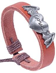 cheap -Women's Bracelet Heart Ladies Basic Leather Bracelet Jewelry Coffee For Date Festival