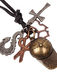 cheap -Men's Pendant Necklace Cross Scissors Vintage Metal Alloy Bronze Necklace Jewelry One-piece Suit For Birthday Gift Cosplay Costumes