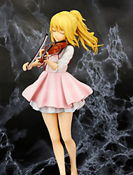 cheap -Anime Action Figures Inspired by Your Lie in April Kaori Miyazono PVC(PolyVinyl Chloride) 22 cm CM Model Toys Doll Toy Unisex