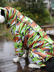cheap -Dog Rain Coat Dog Clothes Camouflage Color Costume Other Material Reactive Print Waterproof S M L
