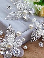 cheap -Imitation Pearl / Alloy Hair Clip / Hair Stick with Acrylic Diamond / Faux Pearl 1pc Wedding Headpiece