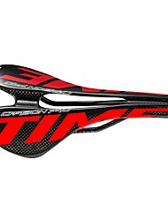 cheap -Bike Saddle / Bike Seat Lightweight Breathable Comfort Hollow Design Carbon Fiber Cycling Road Bike Mountain Bike MTB Red