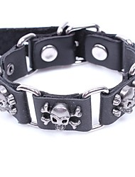 cheap -Men's Leather Bracelet Bracelet Skull Pirates Gothic Leather Bracelet Jewelry Black / Coffee For Halloween