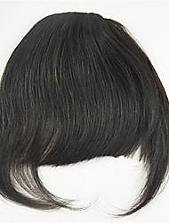 Недорогие -Черный Средний коричневый Чёлки Бахрома Толстые 0.25kg Натуральные волосы Реми Волосы Наращивание волос Толстые