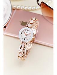 cheap -Women's Bracelet Watch Simulated Diamond Watch Quartz Silver / Gold 30 m Water Resistant / Waterproof Imitation Diamond Analog Ladies Sparkle Bangle Fashion Elegant - Gold Silver