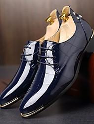 Недорогие -Муж. Комфортная обувь Оксфорд Весна / Осень Английский Туфли на шнуровке Черный / Морской синий / Красный / Для вечеринки / ужина / Заклепки / Для вечеринки / ужина / EU40