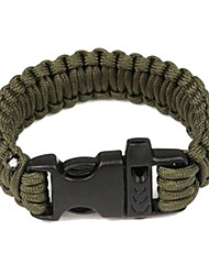 cheap -Paracord Bracelet Outdoor Survival Whistle Nylon Fiber Camping / Hiking Outdoor Exercise Camping / Hiking / Caving Army Green Camouflage Brown 1 pcs