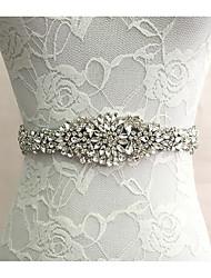 cheap -Silk Like Satin Wedding / Special Occasion Sash With Rhinestone Women's Sashes