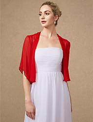 cheap -Half Sleeve Shrugs Chiffon Wedding / Party / Evening Women's Wrap With