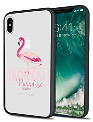 cheap -Case For Apple iPhone X / iPhone 8 Plus / iPhone 8 Pattern Back Cover Flamingo / Animal Soft TPU