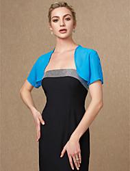 cheap -Short Sleeve Shrugs Chiffon Wedding / Party / Evening Women's Wrap With