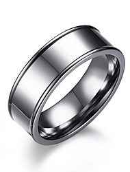 cheap -Men's Band Ring Silver Stainless Steel Circle Fashion Wedding Formal Jewelry