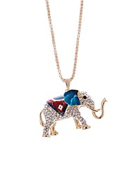 cheap -Women's Pendant Necklace Chain Necklace Elephant Ladies Alloy Dark Green Dark Blue Necklace Jewelry One-piece Suit For Daily Date