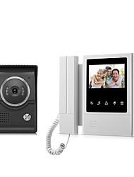 Недорогие -xsl-v43e168-ltouch экран проводной визуальный дверной звонок 4,3-дюймовый ЖК-монитор видеодомофона домофон домофон система открывания