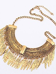 cheap -Pendant Necklace Women's Statement Classic Fashion Gold Necklace Jewelry One-piece Suit for Birthday Evening Party Line