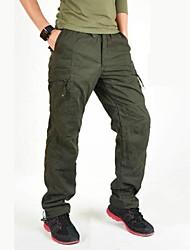 cheap -Men's Hiking Cargo Pants Winter Outdoor Windproof Fleece Lining Multi-Pocket Wear Resistance Cotton Pants / Trousers Hiking Climbing Multisport Black Army Green Green M L XL XXL XXXL