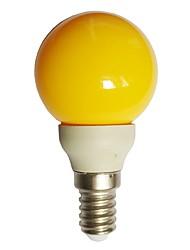 Недорогие -1шт 0.5 W Круглые LED лампы 15-25 lm E14 G45 7 Светодиодные бусины Dip LED Декоративная Желтый 100-240 V / RoHs