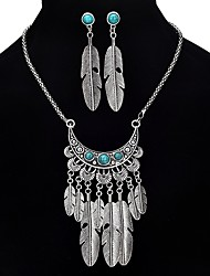 cheap -Women's Turquoise Jewelry Set Wings Ladies Vintage Bohemian Boho western style Earrings Jewelry Silver For Party Formal