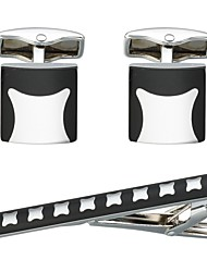 cheap -Cufflinks Tie Clips Basic Fashion Brooch Jewelry Black For Daily Formal