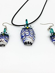 cheap -Women's Jewelry Set Owl Ladies Bohemian Fashion Boho Earrings Jewelry Green For Party Daily