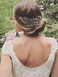 cheap -Alloy Hair Combs with Pearl 1pc Wedding / Party / Evening Headpiece