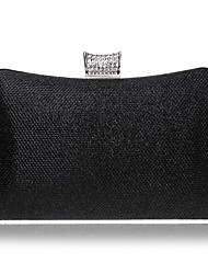 cheap -Women's Buttons / Crystals leatherette Evening Bag Rhinestone Crystal Evening Bags Black / Champagne / Gold