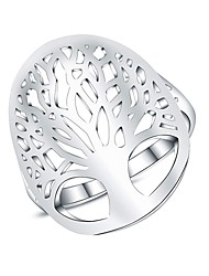 cheap -Women's Statement Ring Micro Pave Ring Silver Silver Plated Ladies Fashion Daily Jewelry filigree Tree of Life