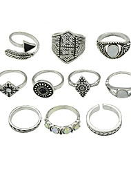 cheap -Women's Knuckle Ring 10pcs Gold Silver Alloy Geometric Vintage Basic Daily Date Jewelry