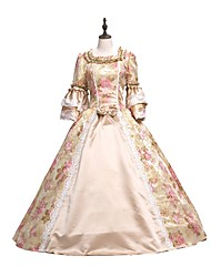 cheap -Rococo Victorian Dress Party Costume Masquerade Ball Gown Lace Party Prom Japanese Cosplay Costumes Plus Size Customized Pink Ball Gown Floral Vintage Long Sleeve Floor Length