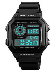 Недорогие -SKMEI Муж. Спортивные часы Наручные часы электронные часы Японский Цифровой Стеганная ПУ кожа Черный / Красный / Зеленый 50 m Защита от влаги Будильник Календарь Цифровой На каждый день -  / Один год