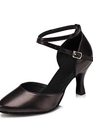 cheap -Women's Modern Shoes Heel Customized Heel Cowhide Black / Red / Gold / Indoor / EU41