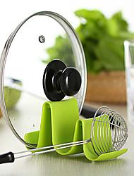 Недорогие -пластиковая форма волны горшок кастрюля крышка крышка подставка держатель стойки ложка стеллаж