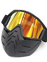 cheap -Ski Bike Motorcycle Face Mask Goggles Motocross Eyewear Motorbike Open Face Detachable Goggle Helmets Vintage Glasses