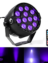 cheap -U'King Disco Lights Party Light LED Stage Light / Spot Light DMX 512 / Master-Slave / Sound-Activated 12 W Outdoor / Party / Club Professional Violet for Dance Party Wedding DJ Disco Show Lighting
