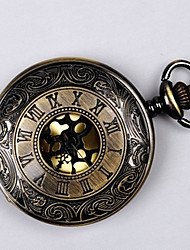 cheap -Couple's Pocket Watch Quartz Ladies Hollow Engraving Casual Watch Cool Analog Golden Black