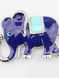cheap -Women's Brooches Elephant Animal Ladies Imitation Diamond Brooch Jewelry Silver For Daily