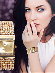 cheap -Women's Luxury Watches Bracelet Watch Unique Creative Watch Quartz Stainless Steel Silver / Gold Water Resistant / Waterproof Chronograph Casual Watch Analog Bangle Elegant Christmas - Gold Silver