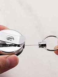 Недорогие -1шт выдвижная металлическая карточка держатель значка стальная откидная лента клип вытащить брелок