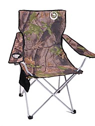 cheap -Shamocamel® Camping Chair with Cup Holder Portable Foldable Compact Durable Aluminium alloy Oxford for 1 person Camping / Hiking Hunting Fishing Beach Spring Summer Army Green
