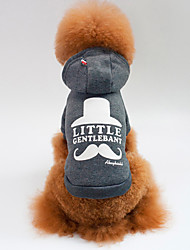 cheap -Dog Hoodie Dog Clothes Print Gray Red Cotton Costume For Spring &  Fall Winter Men's Women's Casual / Daily