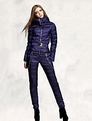 cheap -Women's Ski Suit Ski / Snowboard Waterproof Windproof Warm White Goose Down Clothing Suit Ski Wear / Winter