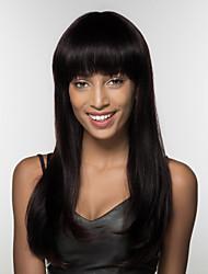 cheap -Human Hair Wig Long kinky Straight kinky straight Natural Hairline Machine Made Women's Black#1B Honey Blonde Medium Auburn 22 inch